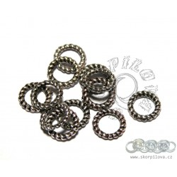 ozdobné kroužky 25 ks - stříbrná galva