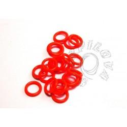 10 ks - oranžové svítící kroužky vel. 6,6/1,6 střední