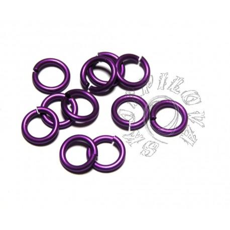13/2 mm MAXI kroužek violet 10ks