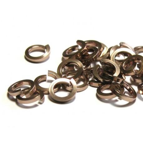 50 ks5/1,2 mm hnědozlatá kroužky z hranatého drátu