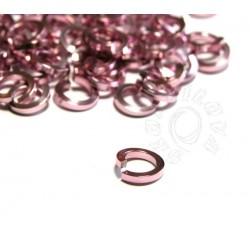 50 ks 4/1,2 mm růžové kroužky z hranatého drátu
