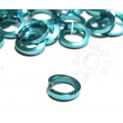 50 ks 6,6/1,2 mm modrá nebeská kroužky z hranatého drátu