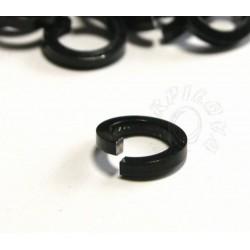 50 ks 8,2/1,6mm černá kroužky z hranatého drátu