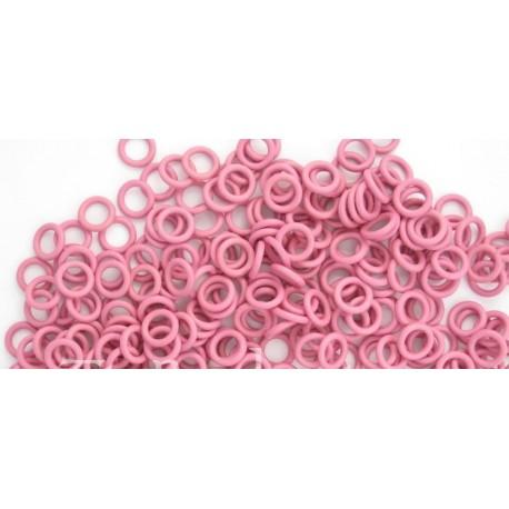 růžové 6,6/1,6 gumové kroužky - 50 ks