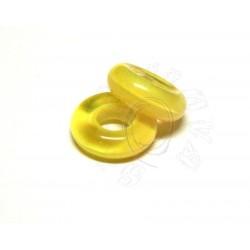 1 ks skleněný kroužek - žlutý melirovaný - krásná barva