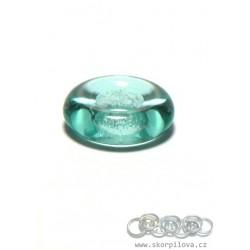 1 ks skleněný kroužek - smaragd