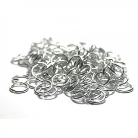 6,6/1,2 mm bal. 100 ks - lesklá stříbrná