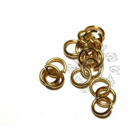 6,6/1,6 mm bal. 100 ks - zlatá
