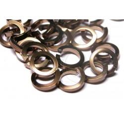 50 ks 4/1,3 mm čokoládové kroužky z hranatého drátu