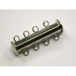 1 ks - 4 očka -RODIUM antik - zapínaní podélné široké - magnetické