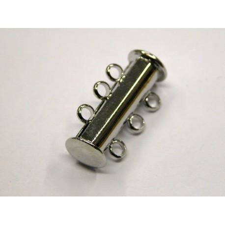 1 ks - 3 očka -RODIUM antik - zapínaní podélné široké - magnetické