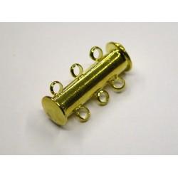 1 ks - 3 očka - zlaté - zapínaní podélné široké - magnetické