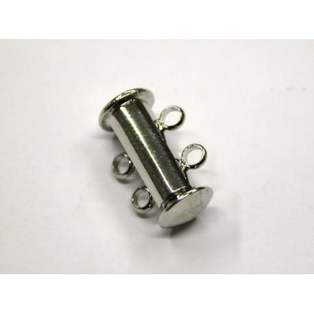 1 ks - 2 očka -RODIUM antik - zapínaní podélné široké - magnetické