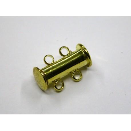 1 ks - 2 očka - zlaté - zapínaní podélné široké - magnetické