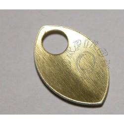 velké dračí šupiny - zlatá lesklá tmavší s vroubky 1 ks
