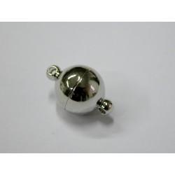 1 ks magnetické zapínání - kulička stříbrná barva midi