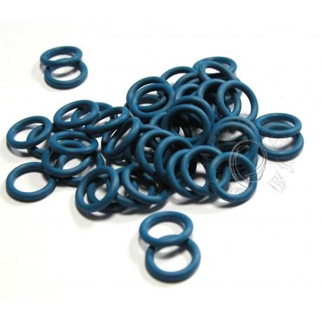 modré 6,6/1,6 gumové kroužky - 50 ks