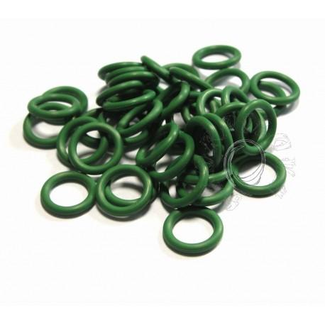 zelené 6,6/1,6 gumové kroužky - 50 ks