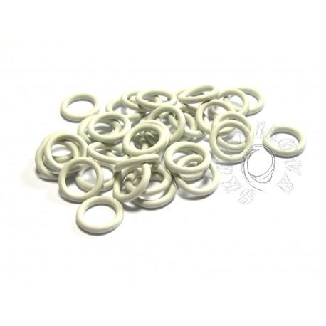 bílé 6,6/1,6 gumové kroužky - 50 ks