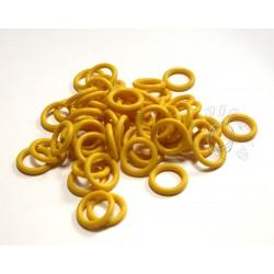 žluté 6,6/1,6 gumové kroužky - 50 ks