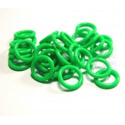 10 ks - zelené svítící kroužky vel. 6,6/1,6 střední