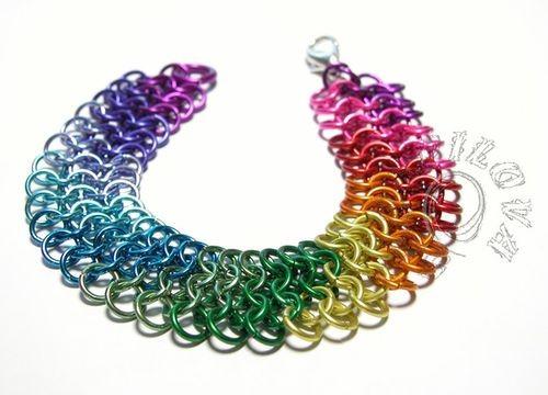 Hana Škorpilová - barevné hliníkové kroužky z eloxovaného hliníku